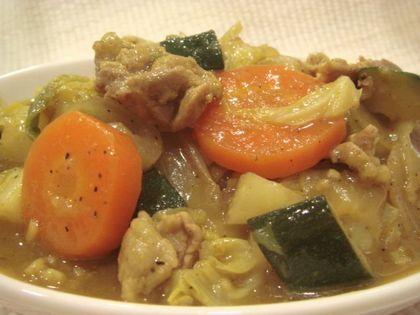 豚と野菜のカレー炒め煮