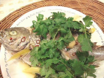 イサキの香菜蒸し