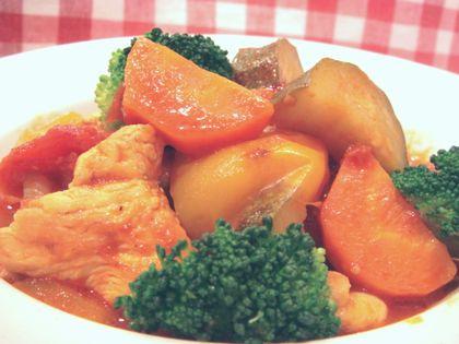 鶏肉と夏野菜のトマトハーブ煮