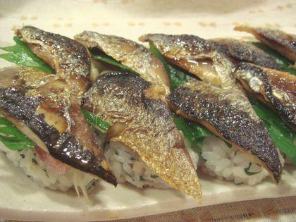 いわしの照り焼き寿司