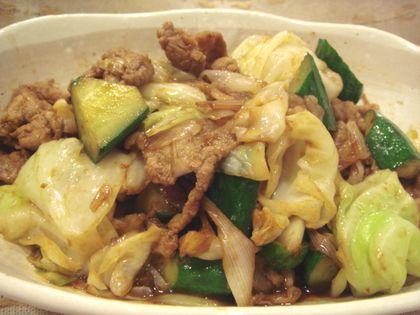 夏野菜の回鍋肉