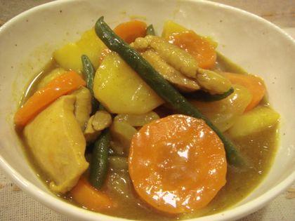 鶏肉と野菜のカレーあん