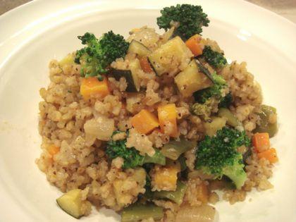玄米と夏野菜のリゾット