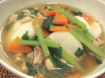 鶏肉と野菜の白玉冷し雑煮