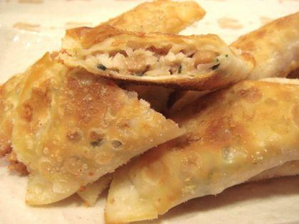 納豆と鶏ひき肉のチーズ揚げ餃子