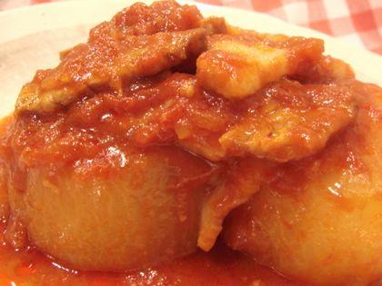 豚バラと大根のトマト煮