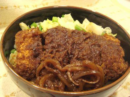 味噌カツ煮丼