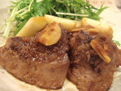 まぐろの頬肉のステーキ