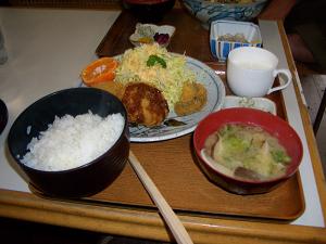 椎茸コロッケ定食