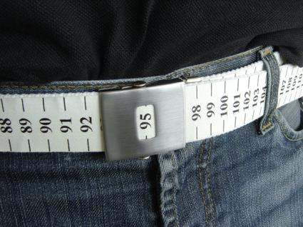 belt with built in gut measuring system