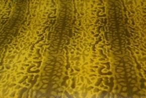 黄色パイソン調の革