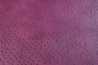 No.75紫オーストリッチ型押し革