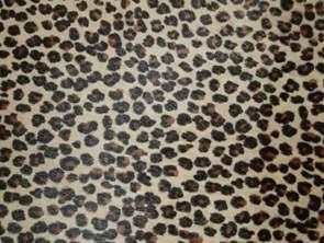 No.23薄い茶色の毛付のヒョウ柄の革