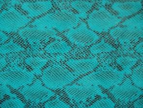 No.28コバルトブルーのヘビ柄の革