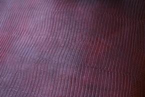 ワインレッドのトカゲ柄の革