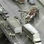 トラック横転大事故から奇跡の生還!