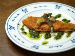 鮭のチーズ焼き大葉ソース16
