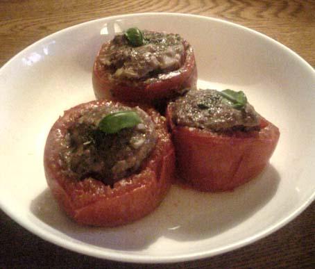 肉詰めトマトのオーブン焼き