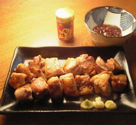 鶏モモ肉の塩胡椒焼き