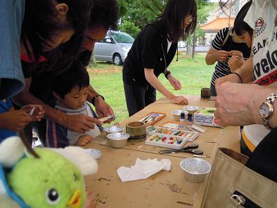 鳥取環境デー キャンドル作り