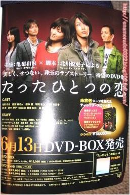 たったひとつの恋DVDBOX広告