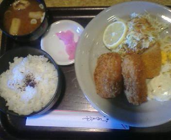甘エビクリームコロッケ定食