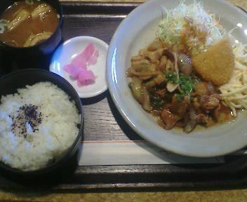 豚かるび生姜焼き定食