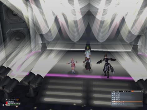 舞台でダンスです!w