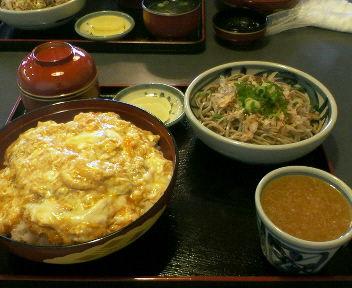 おろし蕎麦とカツ丼の単品で注文!