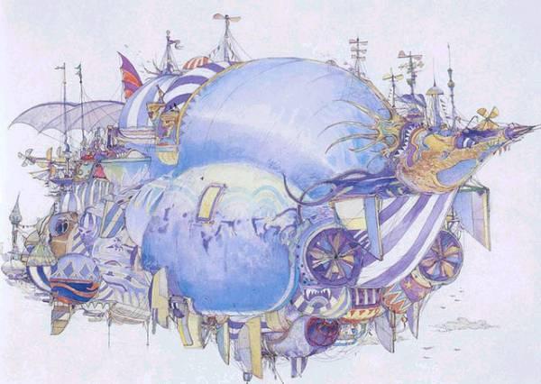 飛空艇 (天野喜孝によるイメージ図)