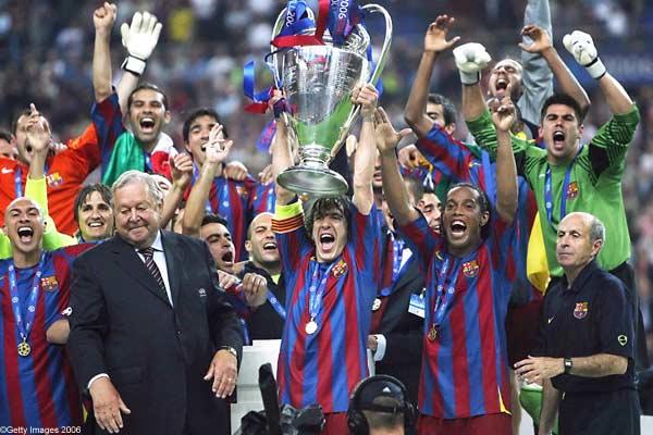 14年ぶり、2回目のCL優勝を果たしたバルセロナ
