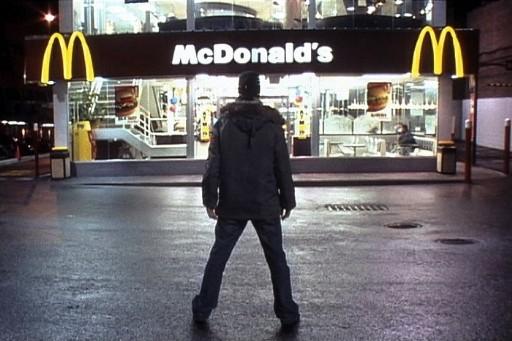 マクドナルドと対峙するスパーロック