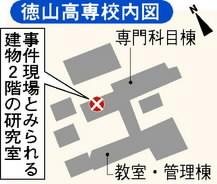 徳山高専案内図