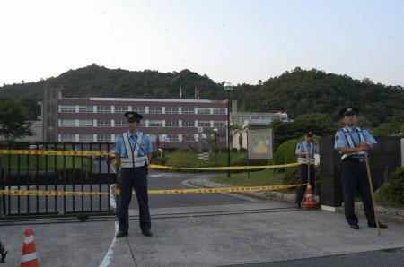 事件が起きた徳山工業高等専門学校(山口県周南市)