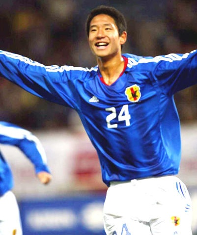 2004年U-23代表のデビュー戦でゴールを決めた