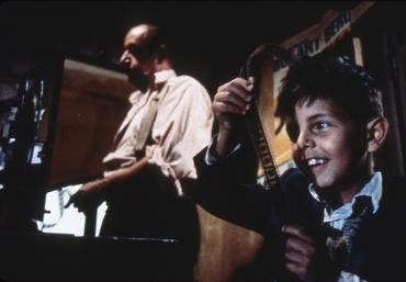映画技師アルフレードとトト少年