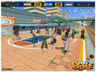 3D無料オンラインバスケットボールゲーム 『フリースタイル』