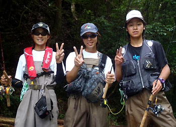 若人3人衆・・・全員渓流初体験です