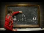 黒板に現れた謎の生物