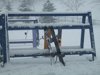 Snow on the rack