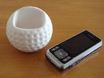 ゴルフボール型携帯ホルダー