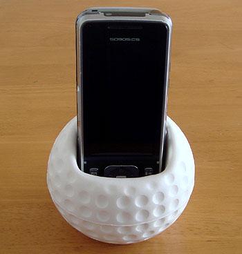 ゴルフボール型携帯電話ホルダー