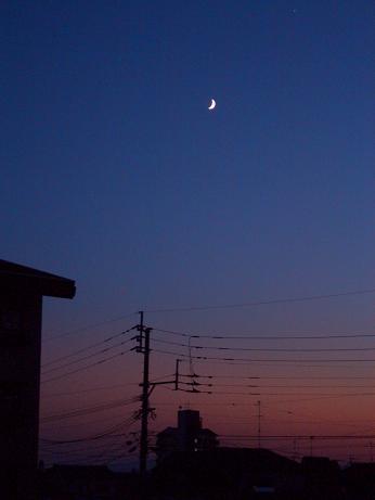 月がぽつん・・