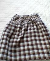 ギャザースカート(ブロックチェック)