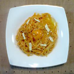カルボナーラチリトマトスパゲティ