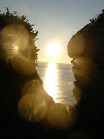 イタリアの夕日