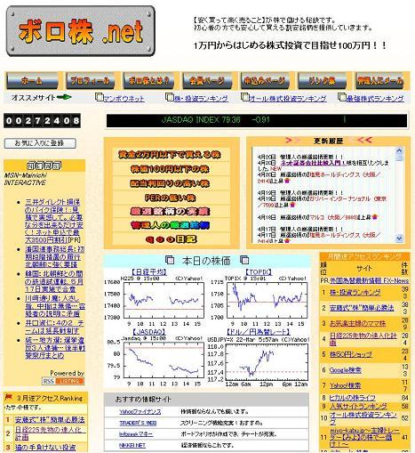 ボロ株 .net