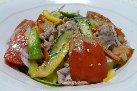 夏野菜と豚シャブサラダ