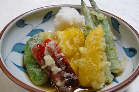 ピーマン・オクラ・豆腐の揚げ出し