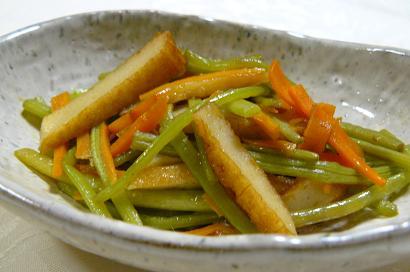 芋の茎の炒め煮